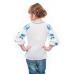 Блуза вышиванка для девочки Мечта (батист белый)