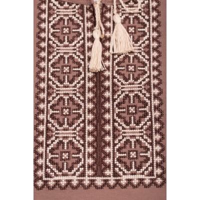 Футболка вышиванка женская Роксолана (интерлок коричневый)