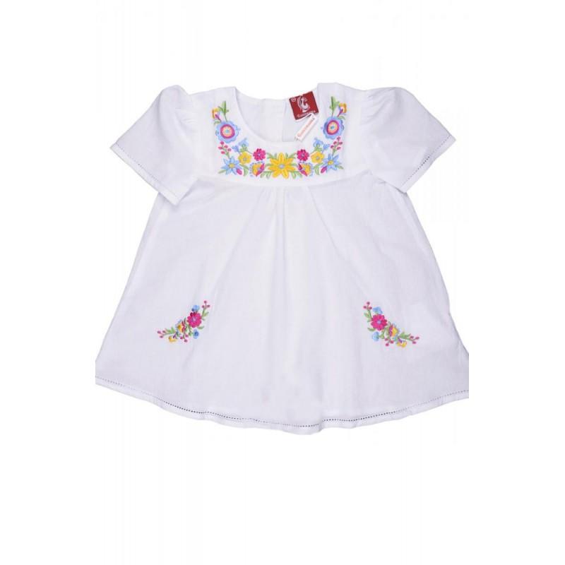 Платье вышиванка для девочки Веснянка (батист белый)