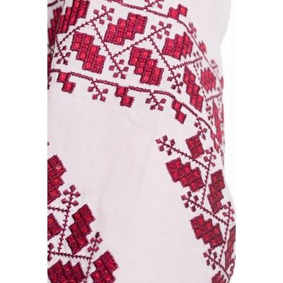 Блузка вышиванка женская Биляра (штапель белый)